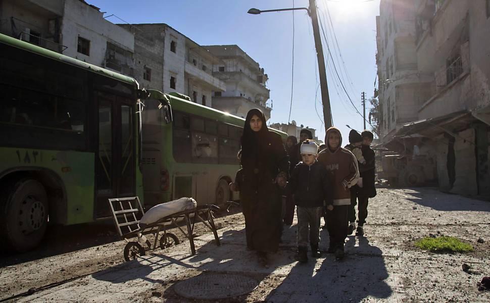 Retirada de rebeldes de Aleppo