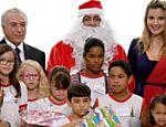 Presidente Michel Temer e primeira-dama Marcela Temer participam de festa de Natal do Palácio do Planalto, Brasília