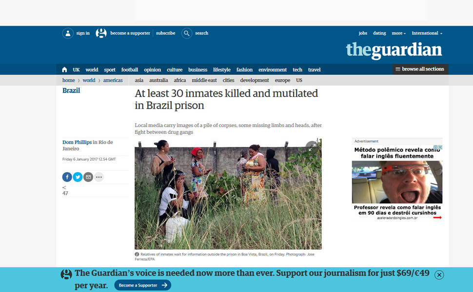 Imprensa internacional repercute massacre