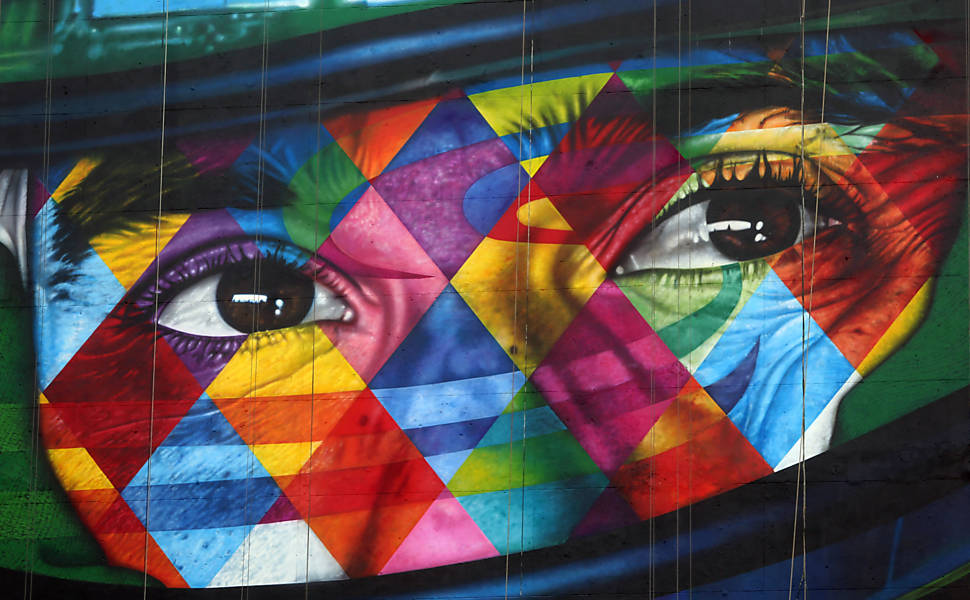 Grafites de Kobra em SP e pelo mundo