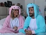 Giovanna Ewbank entrevistou o marido, Bruno Gagliasso, em seu canal do YouTube; os dois estavam vestidos de unicórnios
