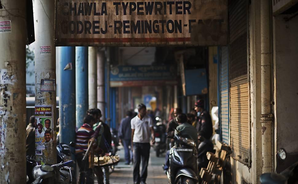 Fim dos tempos da máquina de escrever na Índia