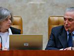 Presidente Michel Temer participa de solenidade em comemoração aos 28 anos da Constituição no STF (Supremo Tribunal Federal) ao lado da ministra Cármen Lúcia, que preside a sessão