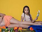No ensaio fotográfico, sua filha, Blue Ivy, 5, aparece nas fotos