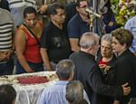 Velório de dona Marisa, mulher do ex-presidente Lula, realizado no sindicato dos Metalúrgicos em Sao Bernardo do Campo