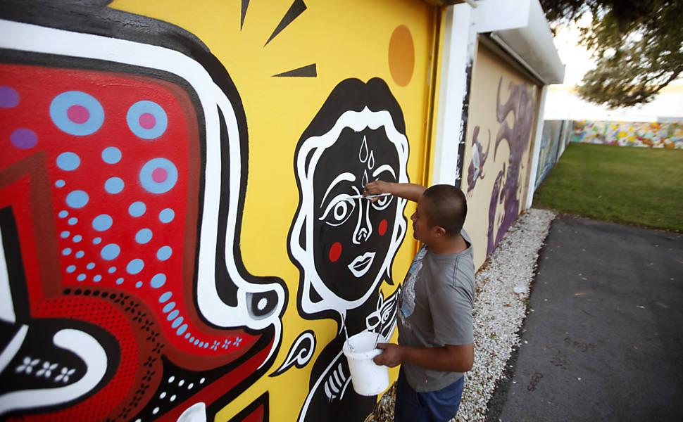 Grafite de rua em Miami