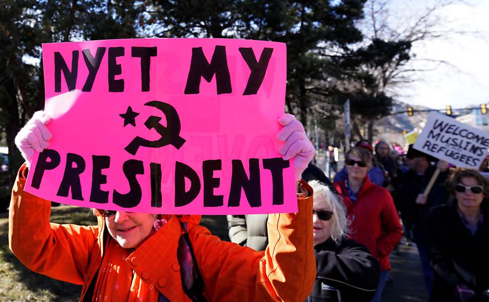 Protesto contra Trump pelo mundo