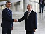 Michel Temer recebe o presidente argentino Mauricio Macri no Palácio do Planalto, em Brasília