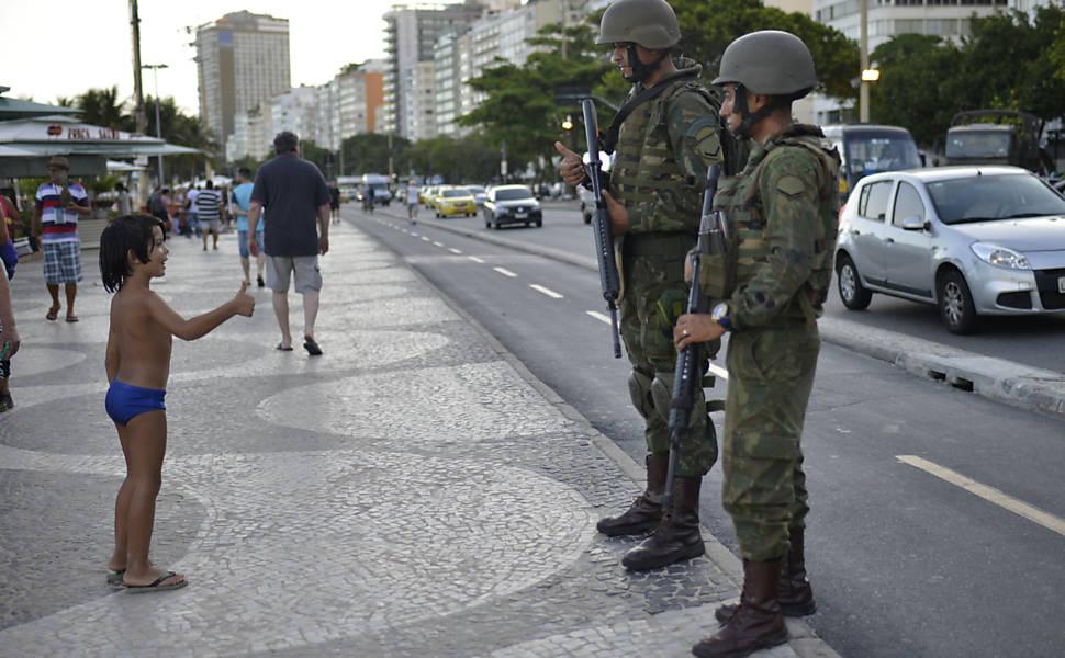 Soldados em Copacabana