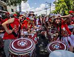 Bloco Confraria do Pasmado agita as ruas do bairro de Pinheiros, em São Paulo