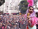 Bloco Minhoqueens no Largo do Arouche, em São Paulo