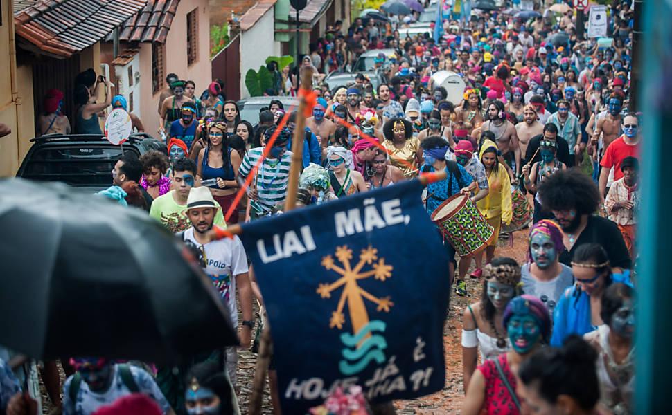 Desfile do Pena de Pavão de Krishna em 2017
