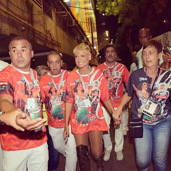 Xuxa no desfile da Grande Rio