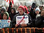 Apoiadores de Donald Trump fazem protesto no parque estadual Neshaminy, em Bensalem, Pensilvânia