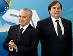 Michel Temer e o deputado Rodrigo Maia durante evento em Brasília