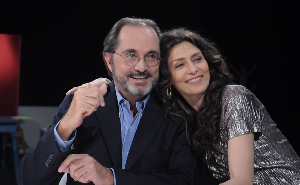 """O psicanalista Jorge Forbes e Maria Fernanda Cândido em """"Terradois"""""""