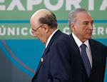 O presidente Michel Temer durante a cerimônia de lançamento do Novo Processo de Exportações do Portal Único de Comércio Exterior, no Palácio do Planalto