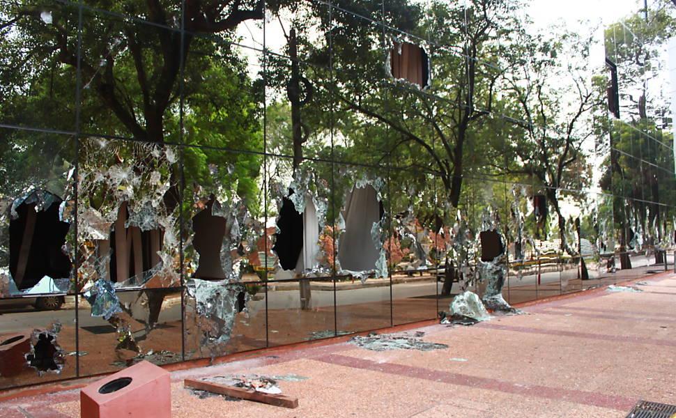 Protesto contra reeleição no Paraguai