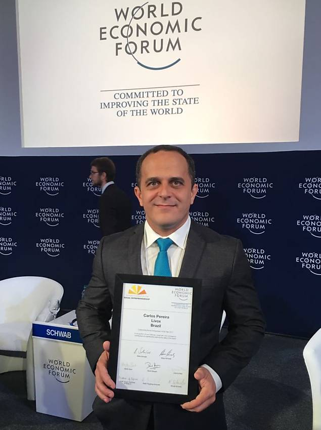 Carlos Pereira, vencedor do Pr�mio Empreendedor Social, entra para a Rede Schwab