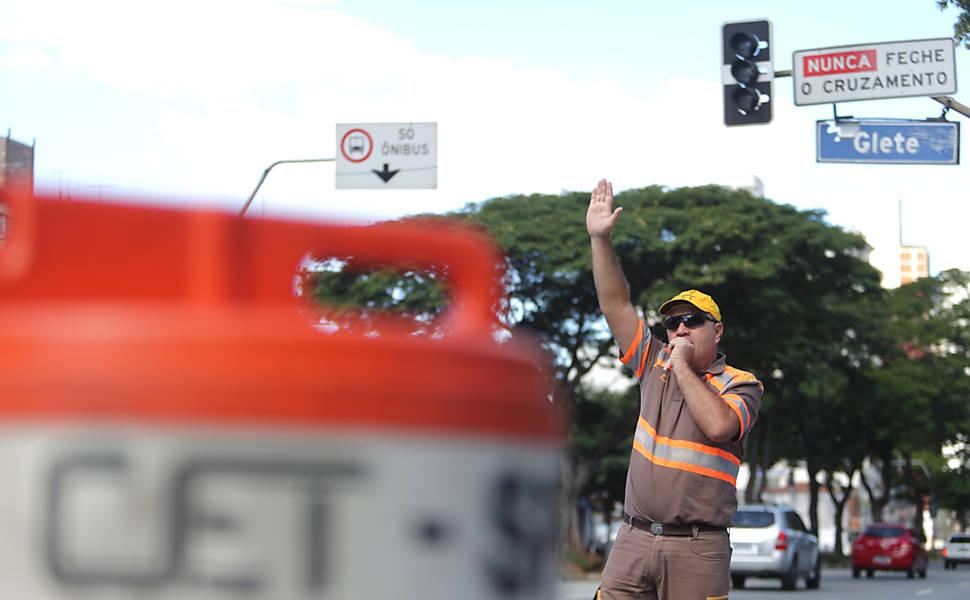Semáforos quebrados em SP