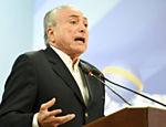 Presidente Michel Temer durante pronunciamento a imprensa no Palácio do Planalto, em Brasília