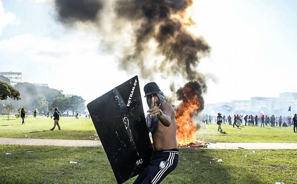 Protesto contra Temer em Brasília