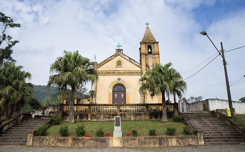 A Igreja Senhor Bom Jesus de Paranapiacaba, que é um distrito de Santo André, na Grande São Paulo