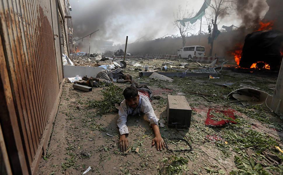 Atentado a bomba em área diplomática de Cabul
