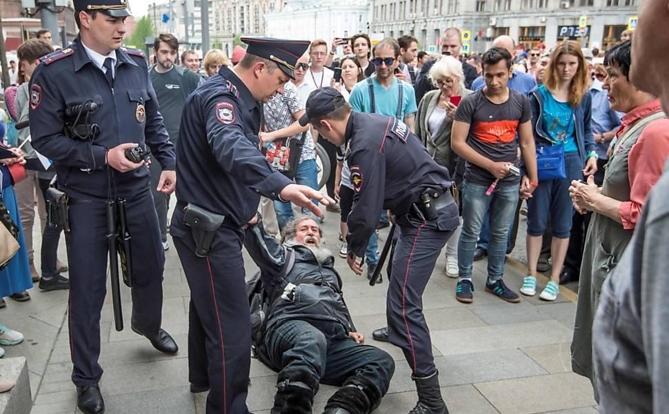 Protesto na Rússia contra a corrupção