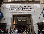 Inaugurada em Nova York biblioteca temporária com tuítes de Trump