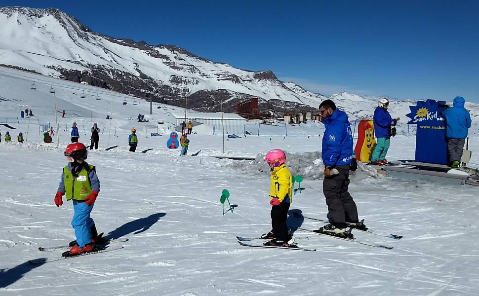Estação de esqui Valle Nevado, no Chile