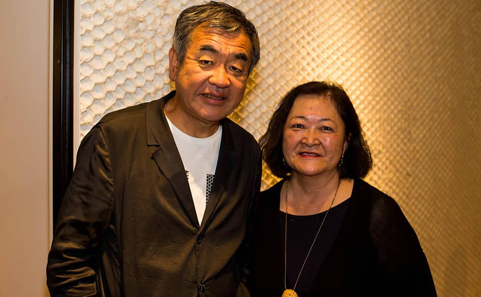 Abertura da exposição  sobre o arquiteto Kengo Kuma