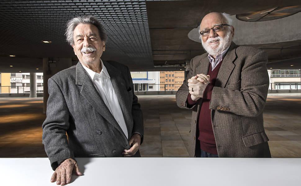 Paulo Mendes da Rocha e Danilo Santos de Miranda no Sesc 24 de Maio