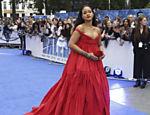 Rihanna durante a premiere do filme 'Valerian e a Cidade dos Mil Planetas', em julho de 2017, em Londres, no Reino Unido