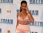 Rihanna durante a premiere do filme 'Valerian e a Cidade dos Mil Planetas', em julho de 2017, em Paris, na França