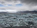 Jokulsarlon, glaciar ao sul da Islândia, junto ao Parque Nacional de Vatnajökull