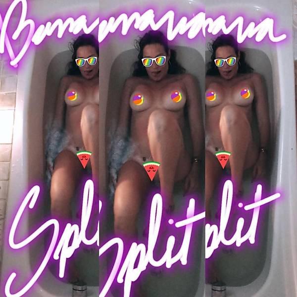 Luana fotografada nua na banheira de hidromassagem pelo marido Scooby