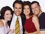 Os atores Megan Mullally, Eric McCormack, Debra Messing e Sean Hayes