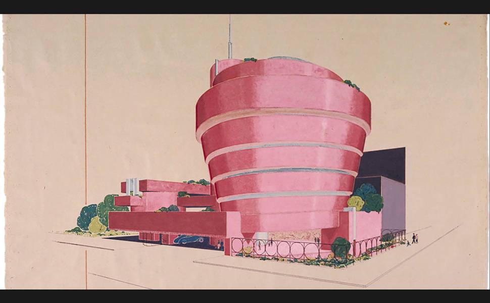 Exposição sobre o arquiteto Frank Lloyd Wright