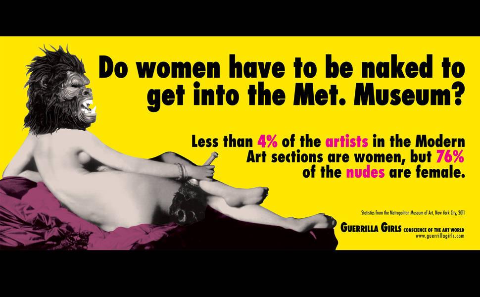 Veja obras do coletivo Guerrilla Girls