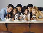 Imagem promocional com o elenco de Friends, lançada em 1994