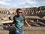 Thiago Martins no Coliseu, em Roma