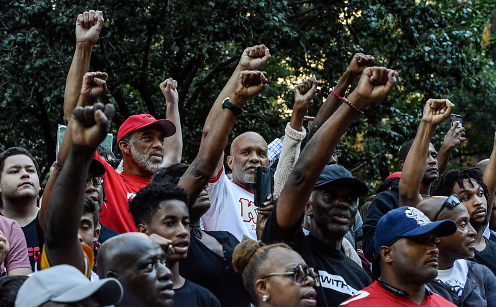 Manifestação de apoio a Kaepernick