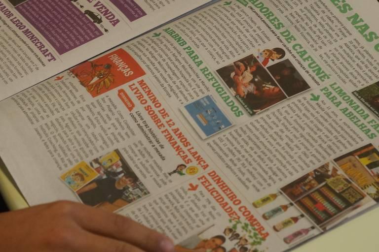 O jornal da editora fundada pela administradora de empresas Stéphanie Habrich. O trabalho é voltado para crianças e com o Joca, único jornal infantil para crianças e adolescentes