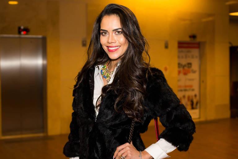A apresentadora Daniela Albuquerque
