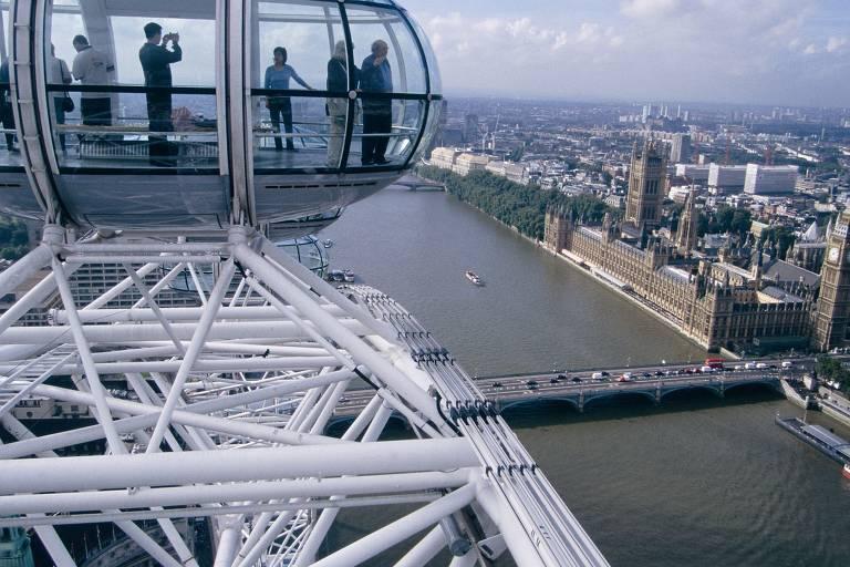 Ícone das rodas gigantes, a London Eye é a maior da Europa