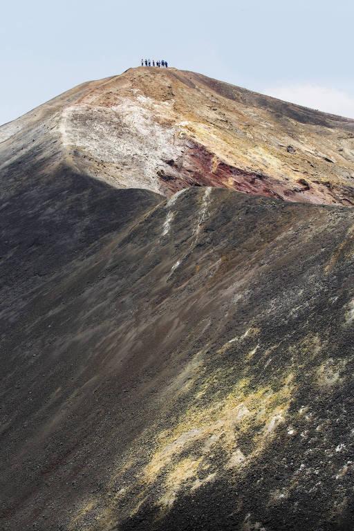 Vulcão Cerro Negro, a 25 quilômetros da cidade de León, na Nicarágua
