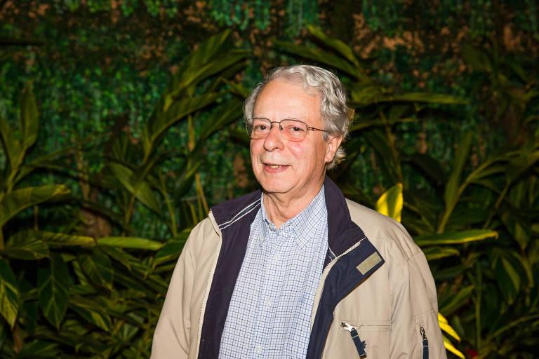 O escritor Frei Betto, em jantar oferecido ao então ministro da Cultura, Sérgio Sá Leitão, em São Paulo, em 2017