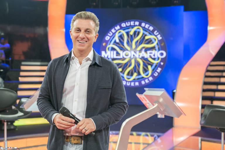 Luciano Huck na gravação da segunda temporada do 'Quem Quer Ser Um Milionário'