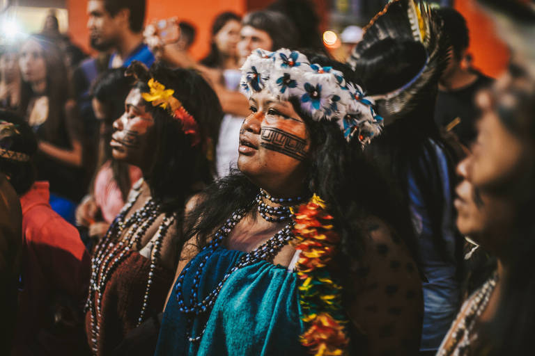 Protesto de indígenas do Jaraguá